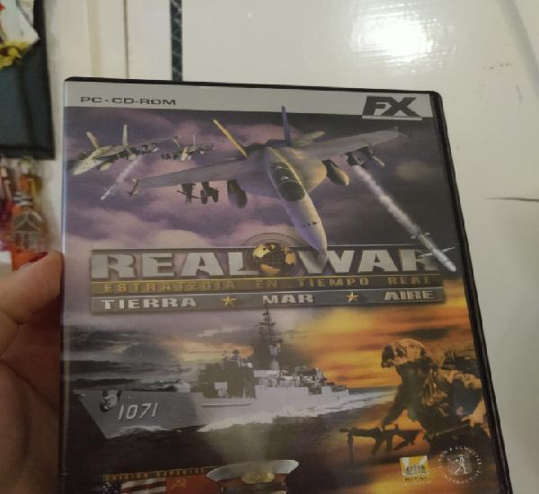 Juego pc cd-rom real war estrategia en tiempo real tierra