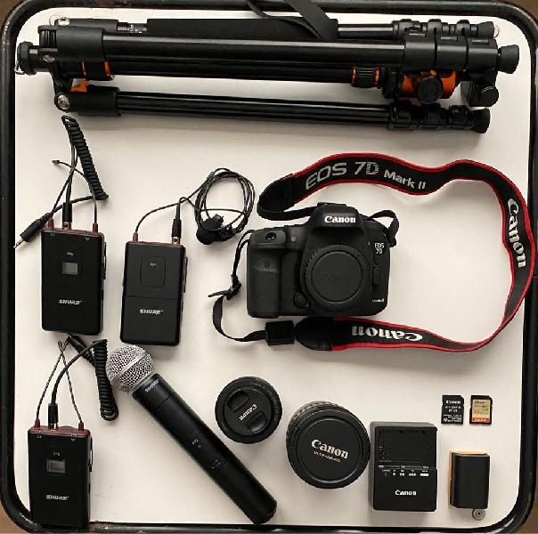 Kit camara canon eos 7d mark ii - mics - lens