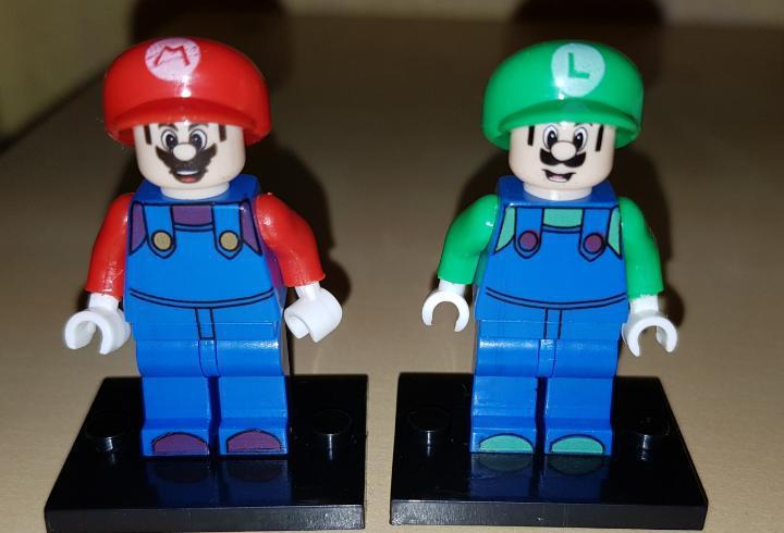 Lote minifiguras compatibles super mario bros y luigi