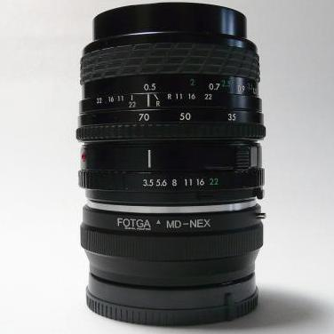 Montaje a sony nex de 35-70mm f/3.5-4.5