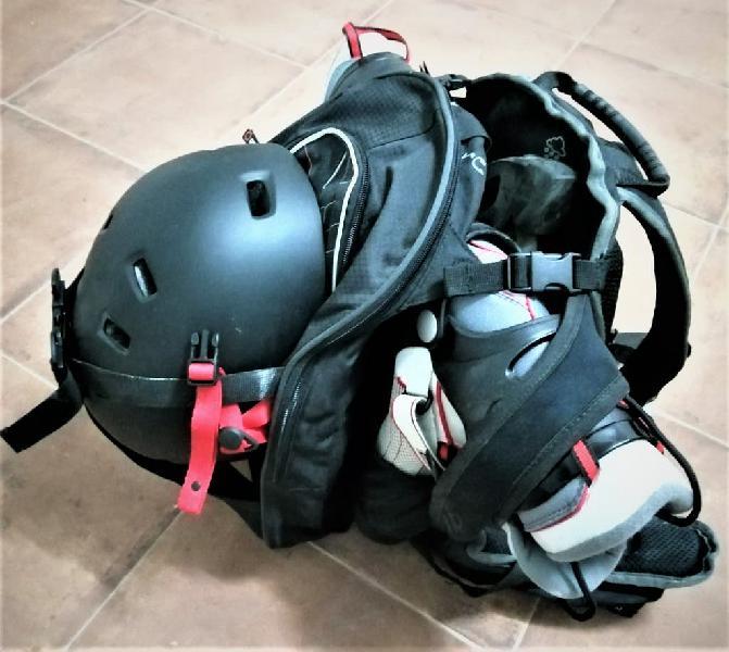 Patines linea exo k2 +mochila+casco+6 protecciones