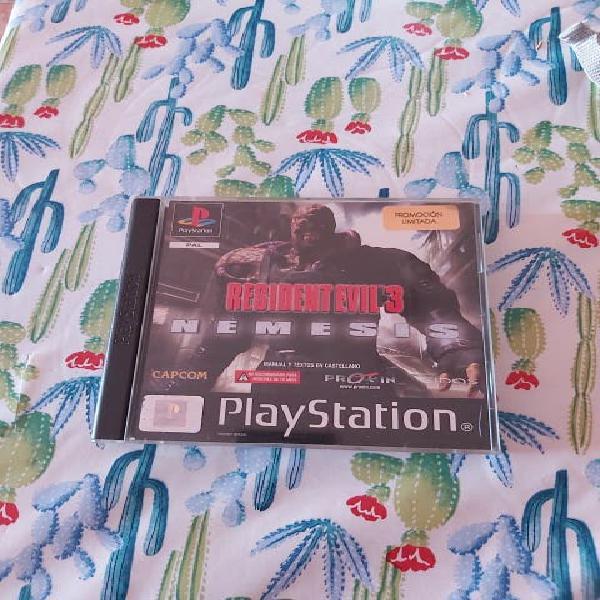 Resident evil 3 nemesis playstation psx ps1