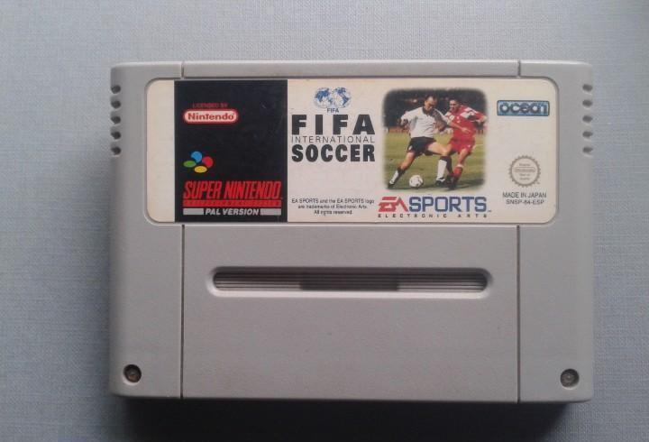 Super nintendo snes fifa international soccer solo cartucho