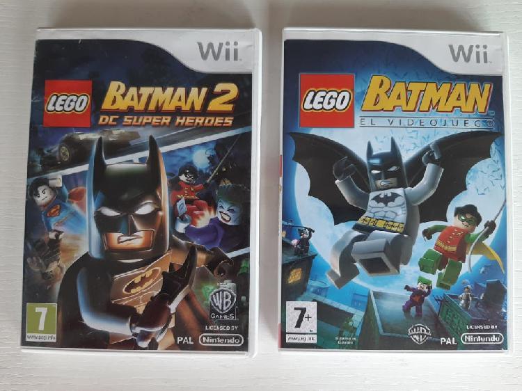 Wii carcasa y manual batman y batman 2