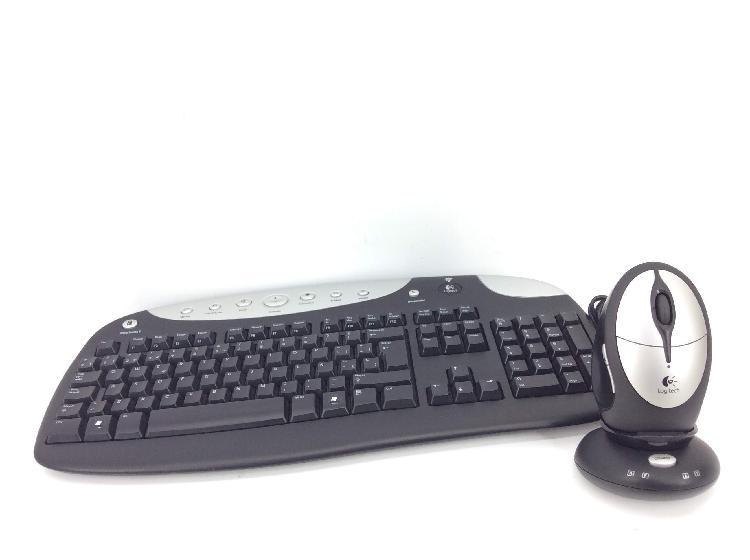 Kit teclado y raton logitech cordless rechargeable desktop