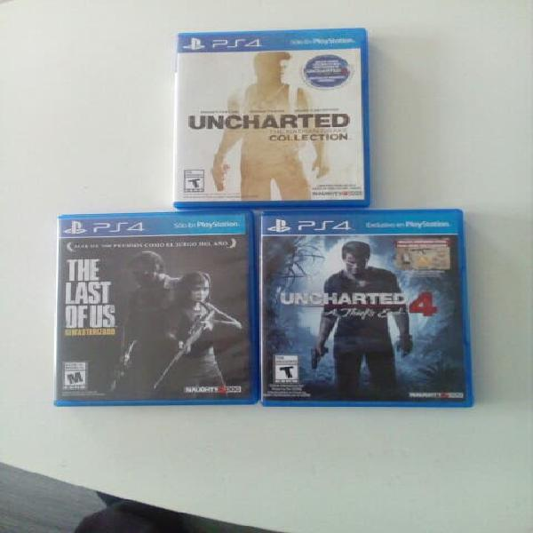 Pack uncharted y last of us ps4
