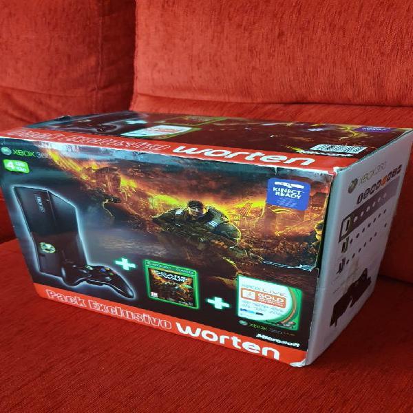 Xbox 360 + kinect + micrófonos + mando + juegos