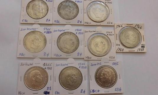 100 pesetas 1966 plata franco lote