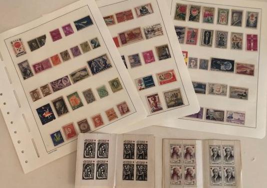 16 sellos de la cruz roja francesa y 77 sellos