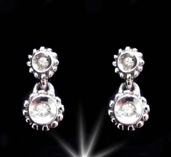 18k & diamond - ideales pendientes con brillantes y oro de