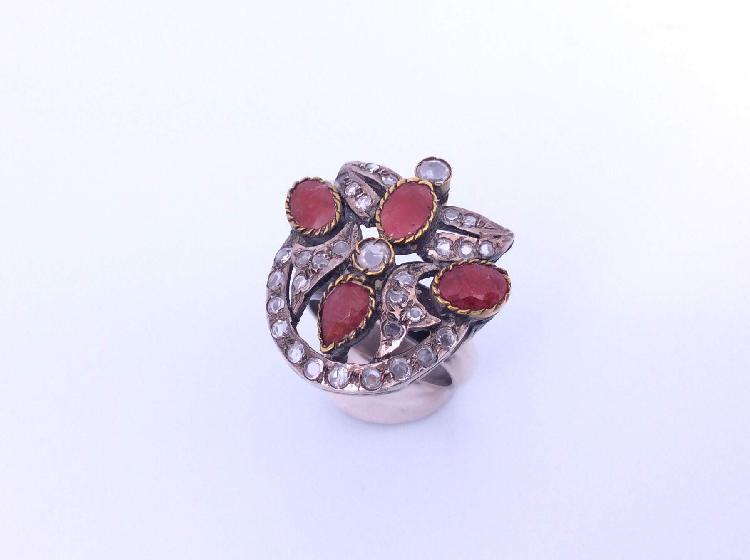 27 % anillo plata primera ley (plata 925mm con piedra)