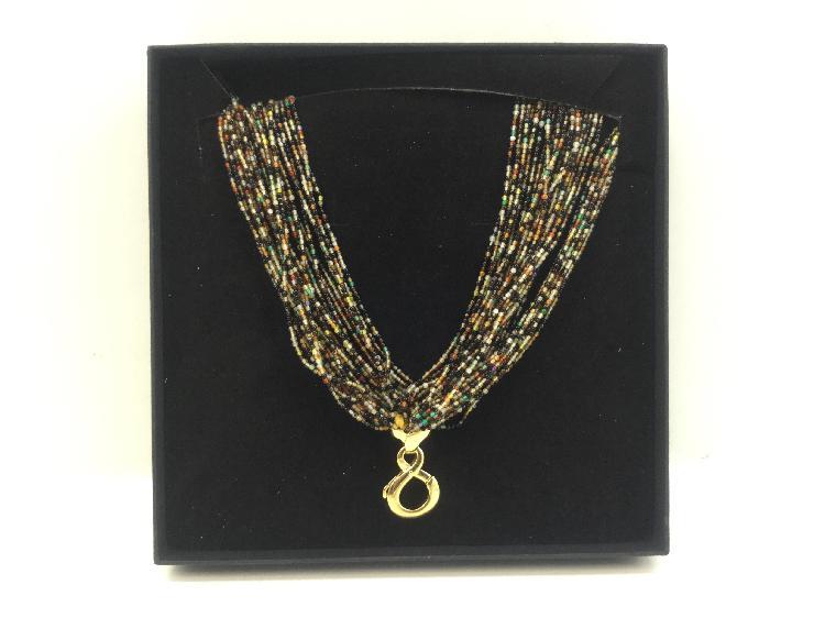 7 % collar oro primera ley (oro 18k con piedra)