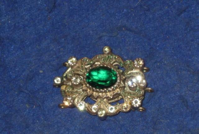 Antiguo broche,cierre para collar de plata y oro 18 kl,con