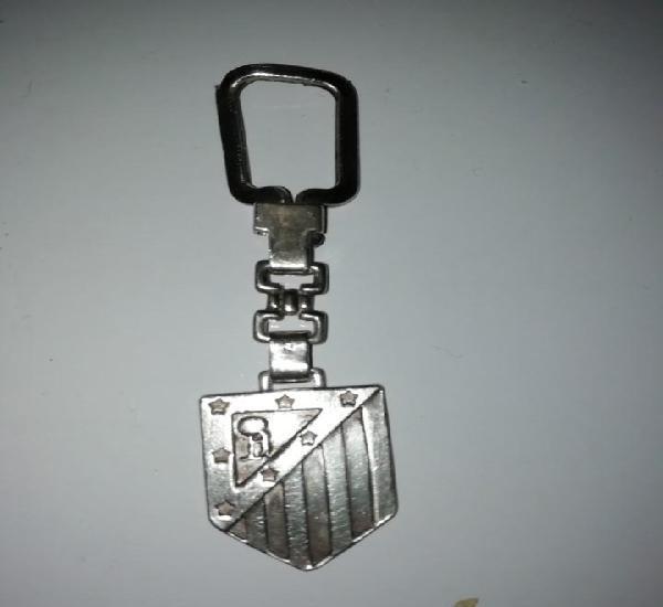 Atletico de madrid antiguo llavero en plata