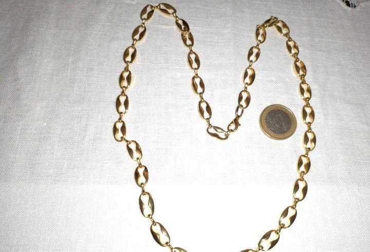 Bonita cadena antigua de eslabones calabrote. 60cm.abierta