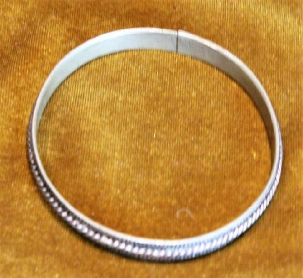 Brazalete de origen marroquí, cobre plateado, 60 mm de