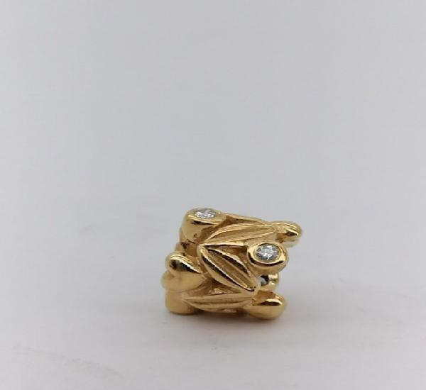 Charm pandora de oro con diamantes, nuevo a estrenar