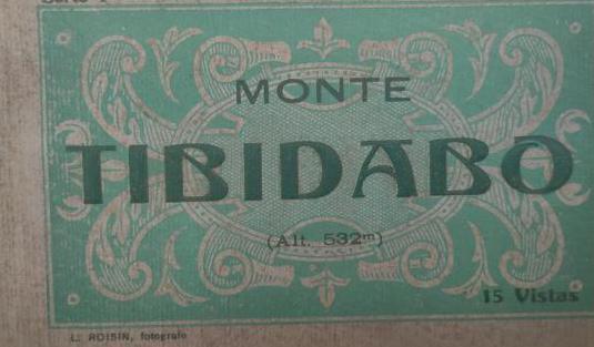 Monte tibidabo - serie 4 - blok postal - 15 vistas