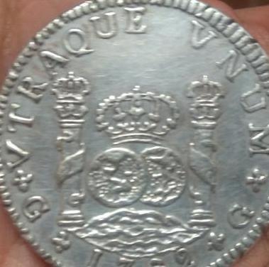 Moneda de plata carlos iii 1762.