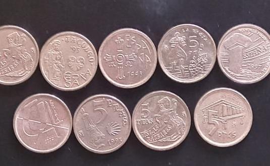Monedas 5 pesetas comunidades autónomas