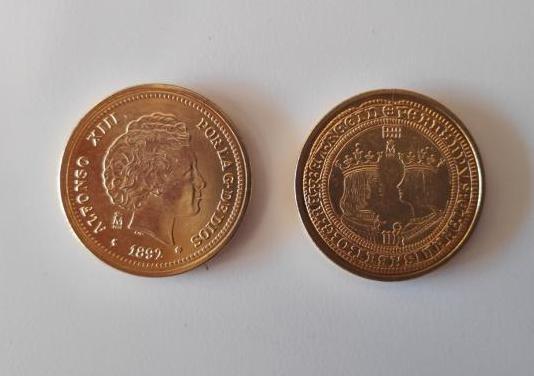 Monedas alfonso xiii y reyes católicos