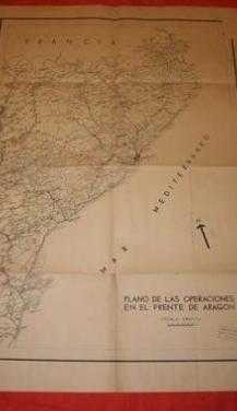 Plano militar de 1939 frente de aragón
