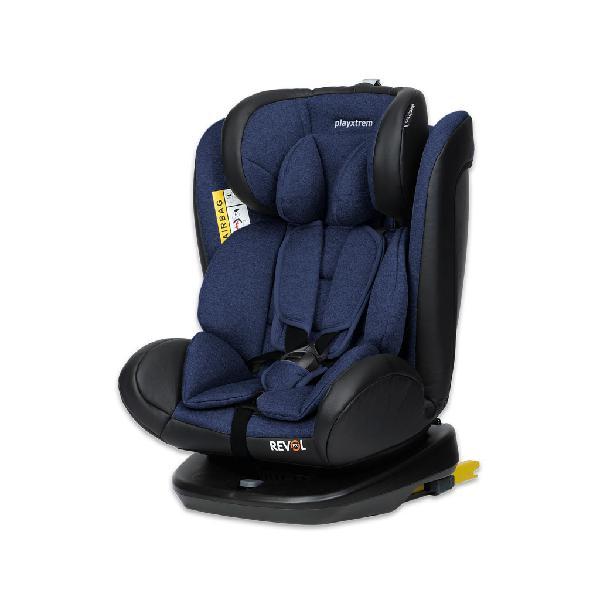 Playxtrem silla de auto revol-fix color roll azul.