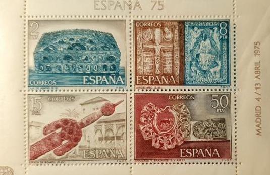 Sellos exposicion mundial de filatelia madrid 1975