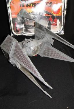 Tie interceptor nave star wars kenner caja 1983