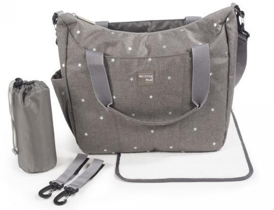 Walking mum bolso canastilla con cambiador gaby gris