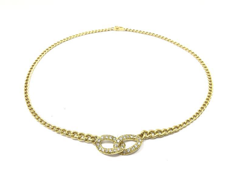 Collar oro primera ley (oro 18k con piedra)