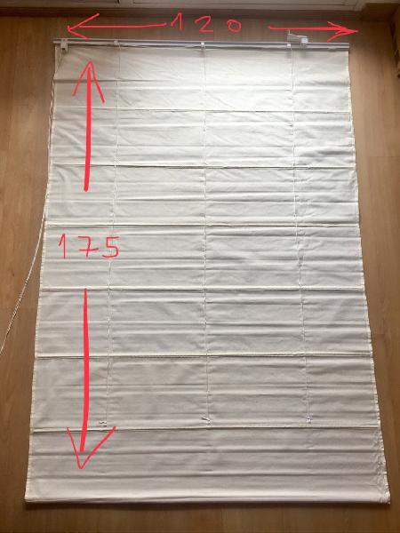 2 estores de tela blancos (nuevos)