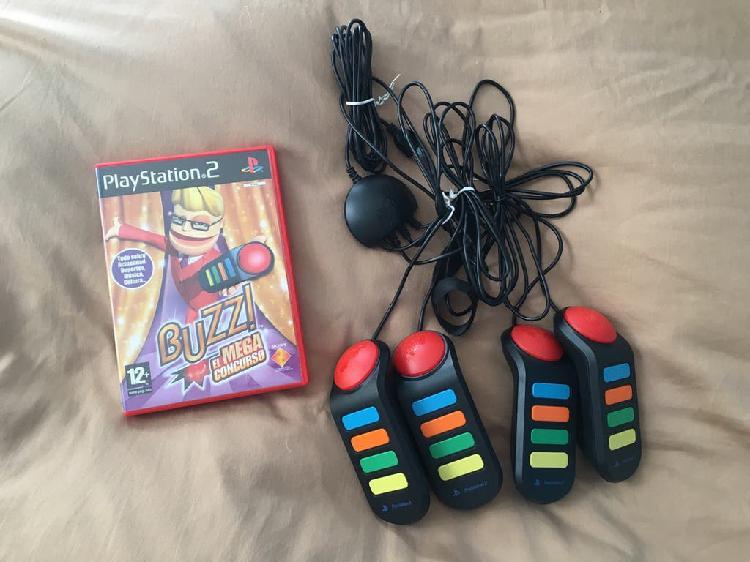 Buzz ps2 juego y mandos