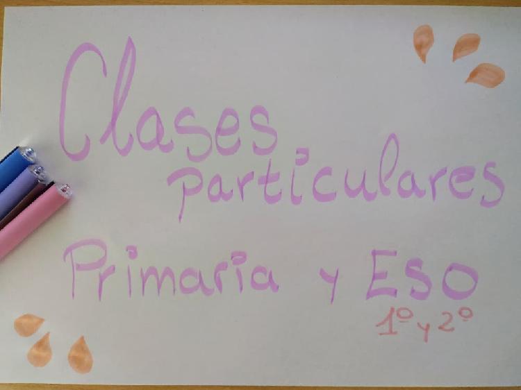 Clases particulares (primaria y eso)