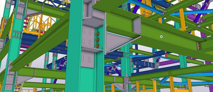 Elaboración modelado 3d y planos tekla structures
