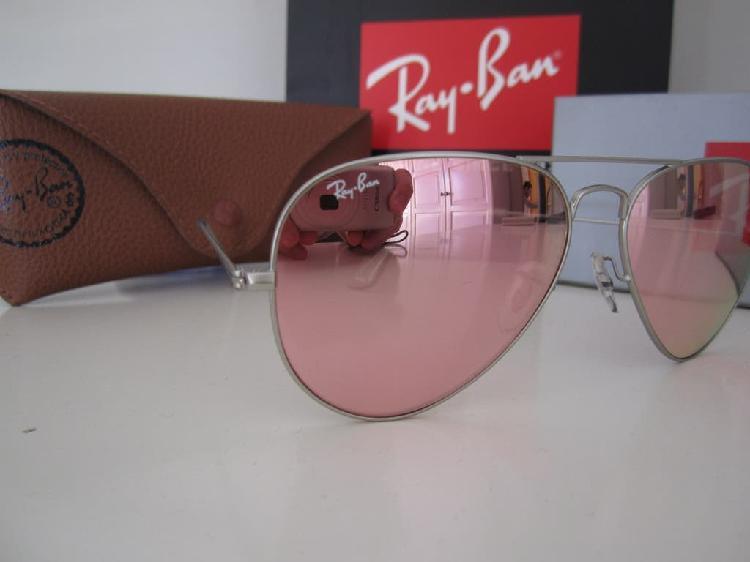Gafas de sol rayban aviador silver pink