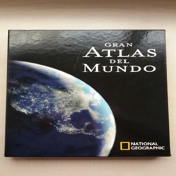 Libro gran atlas del mundo. national geographic.