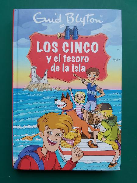Libro juvenil, los cinco y el tesoro de la isla