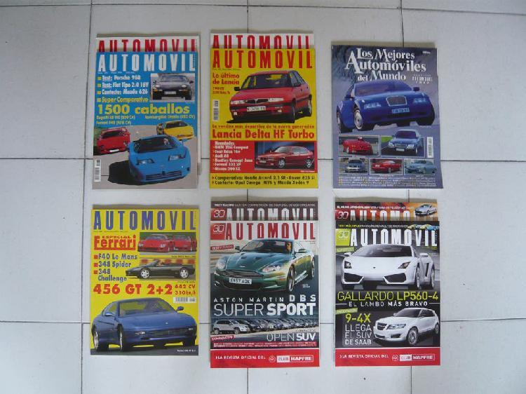 Lote 10 revistas automóvil + 10