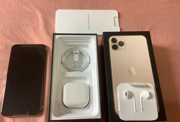 Nuevo apple iphone 11 pro max 256gb gold desbloqueado