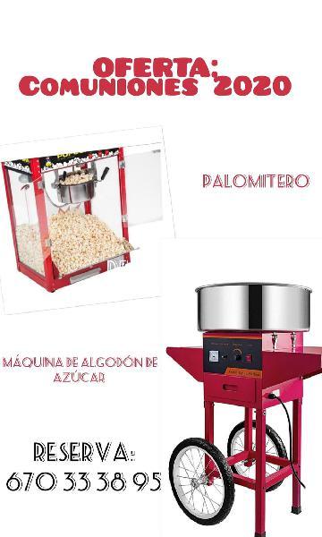 Palomitas y algodón de azúcar