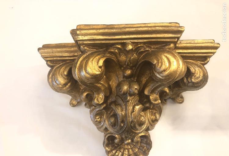 Peana dorada estilo barroco 27 x 14 cm