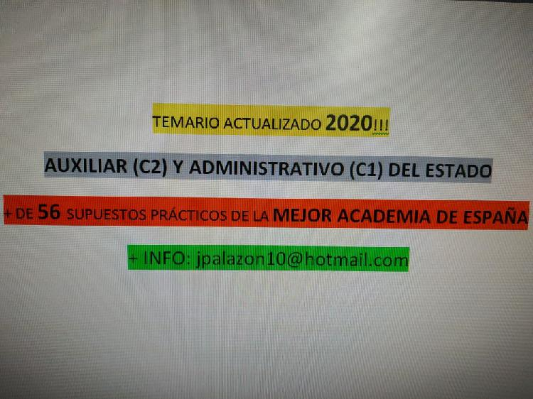 Temario actualizado 2020 aux. c2 y adm. c1 estado