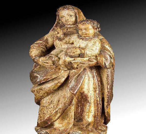 Virgen con niño. escuela española de finales del siglo