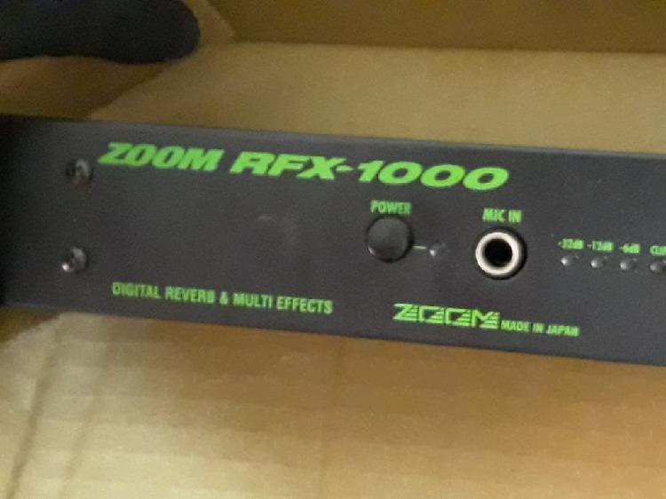 Zoom rfx-1000 reverb digital multi efectos