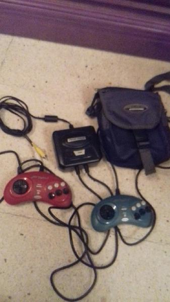 Consola mega drive vintage street figther y ghost
