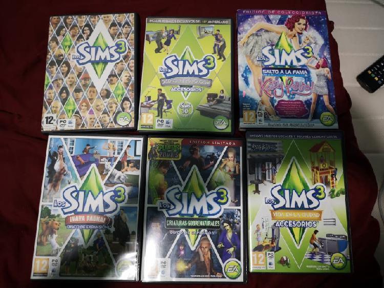 Juegos y expansiónes de los sims 3