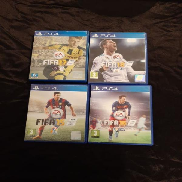 Ps4 pack fifa 15,16,17,18
