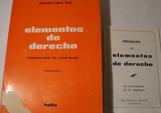Elementos de derecho. s. lópez. 1971