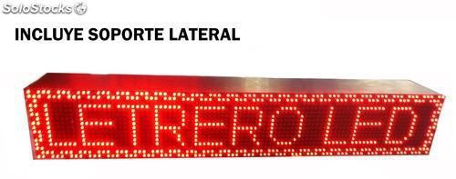 Letrero led programable electrónico doble cara 96x16 cm